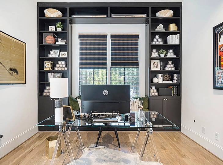 houston memorial tx provenance woven shades home office