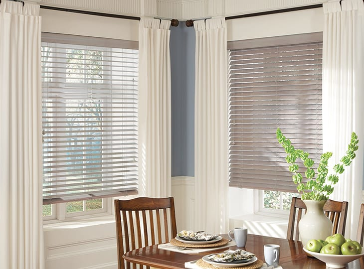 parkland wood blinds dining room