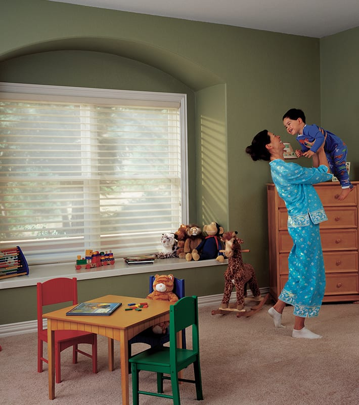 cordless blinds play room and bedroom houston