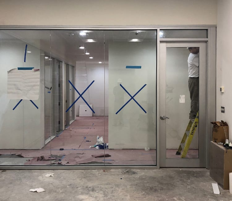 construction in commercial spaces for window coverings in Houston TX