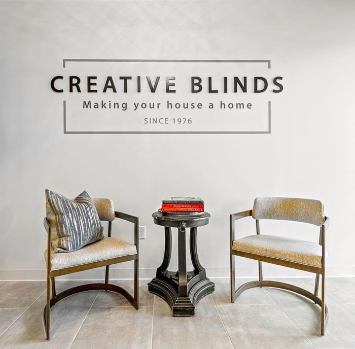 creative blinds window treatment showroom in Houston TX