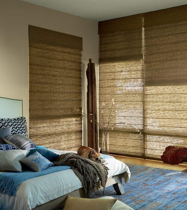 bedroom floor to ceiling blinds