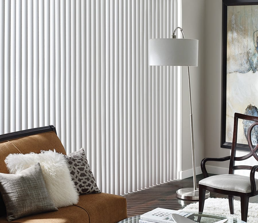 Hunter douglas large windows vertical blinds Houston TX