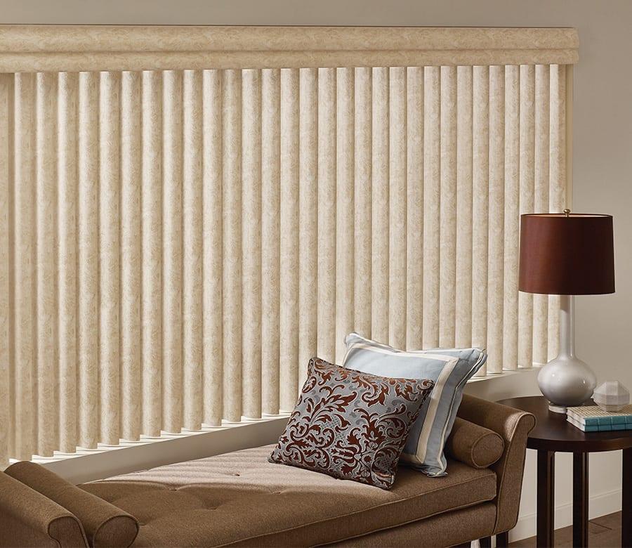 living room brown vertical blinds Houston TX
