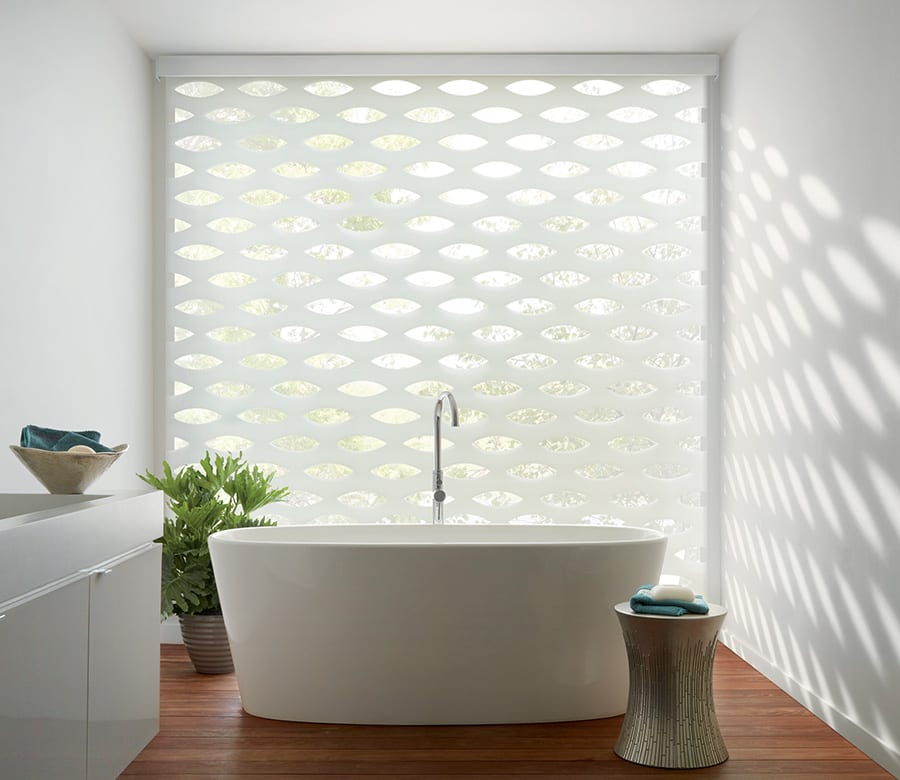 bathroom white banded roller shades houston tx