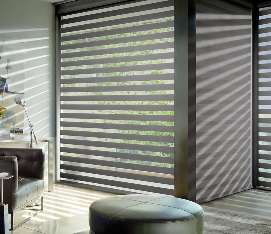 hunter douglas large window banded roller shades houston tx