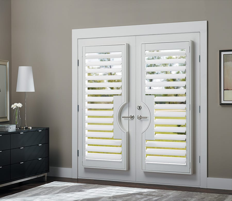 hunter douglas patio doors Hunter Douglas sliding doors hardwood shutters Houston TX