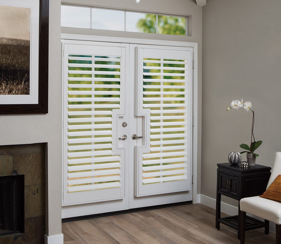 hunter douglas glass doors Hunter Douglas sliding doors wood shutters Houston TX