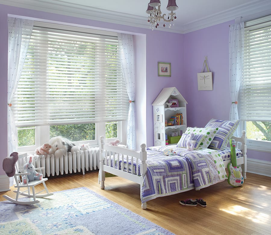 childrens bedroom cordless wood blinds Houston TX