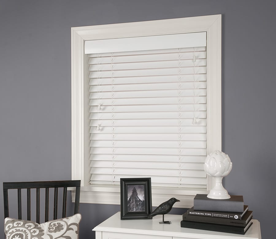 Hunter Douglas white wood blinds Houston TX