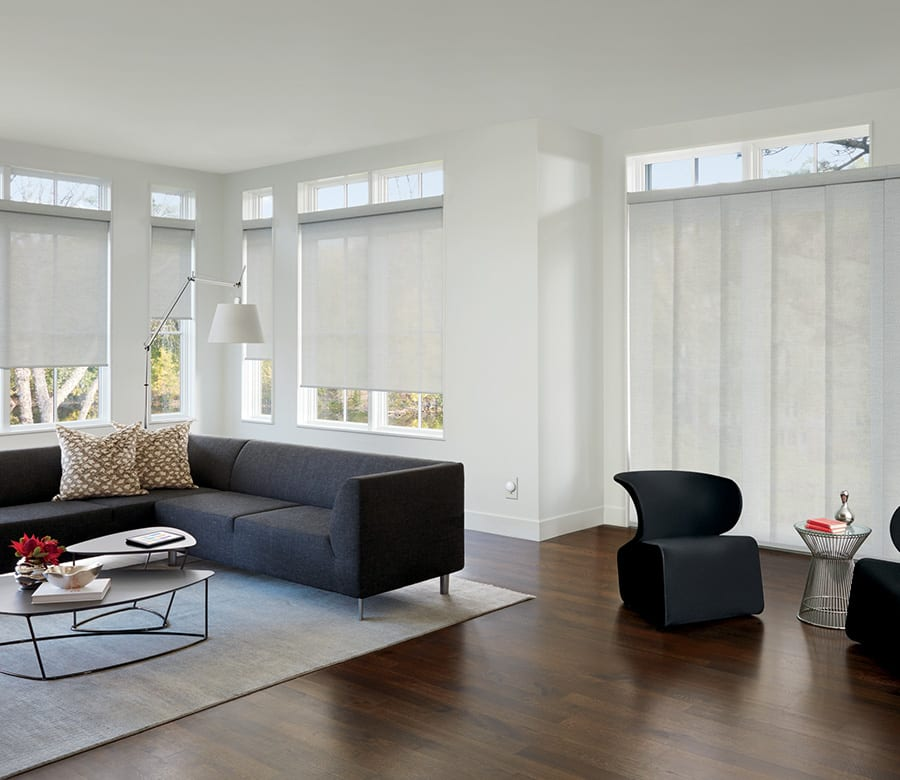 hunter douglas white roller shades houston tx