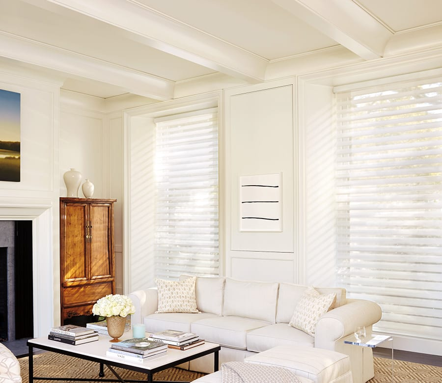 Hunter douglas white silhouette shades Houston TX