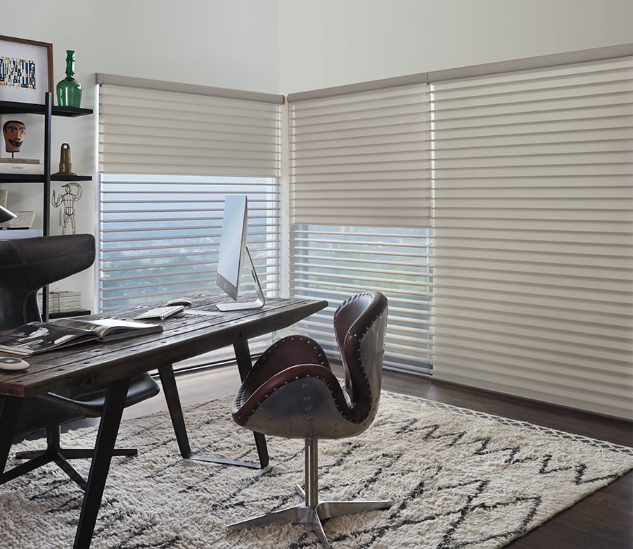 Hunter Douglas neutral silhouette shades Houston TX