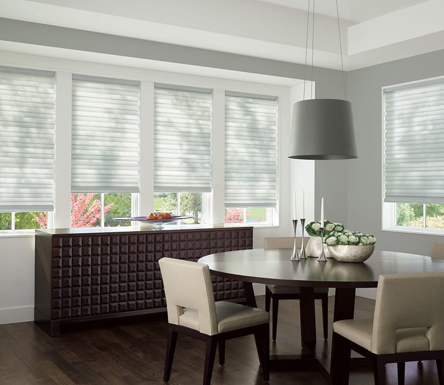 dining room privacy roman shades Houston TX