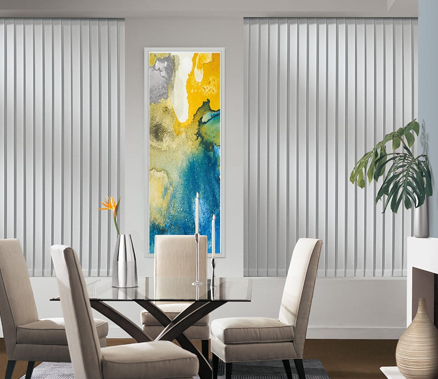 dining room privacy vertical blinds Houston TX