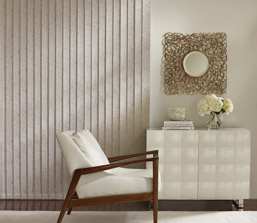 sitting area neutral vertical blinds Houston TX