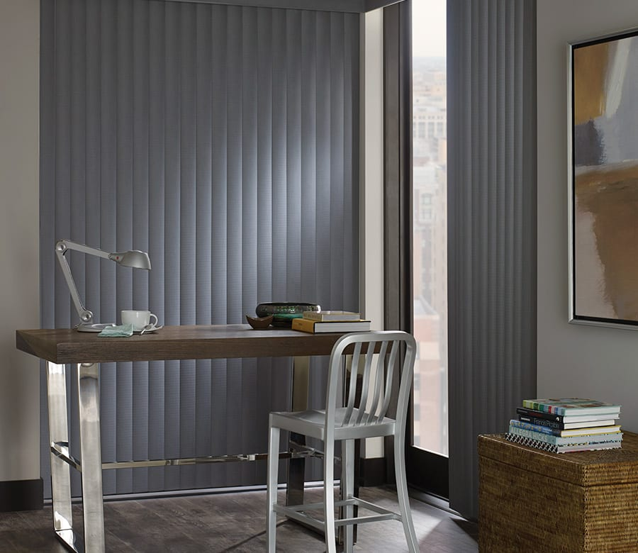 office blue vertical blinds Houston TX