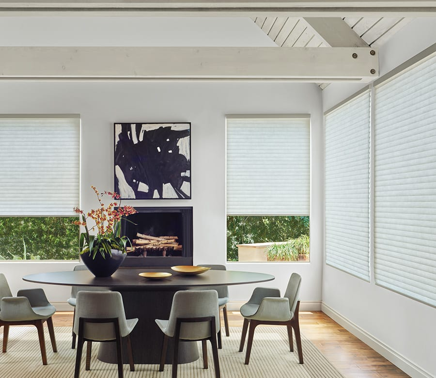 dining room energy efficient sonnette shades Houston TX
