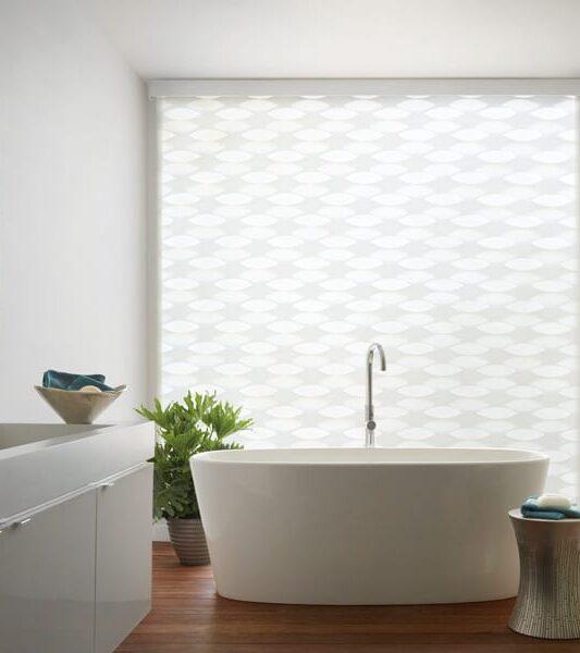 bathroom motorized shades contemporary style