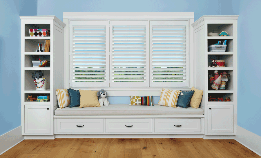 child safe home with plantation shutters Houston