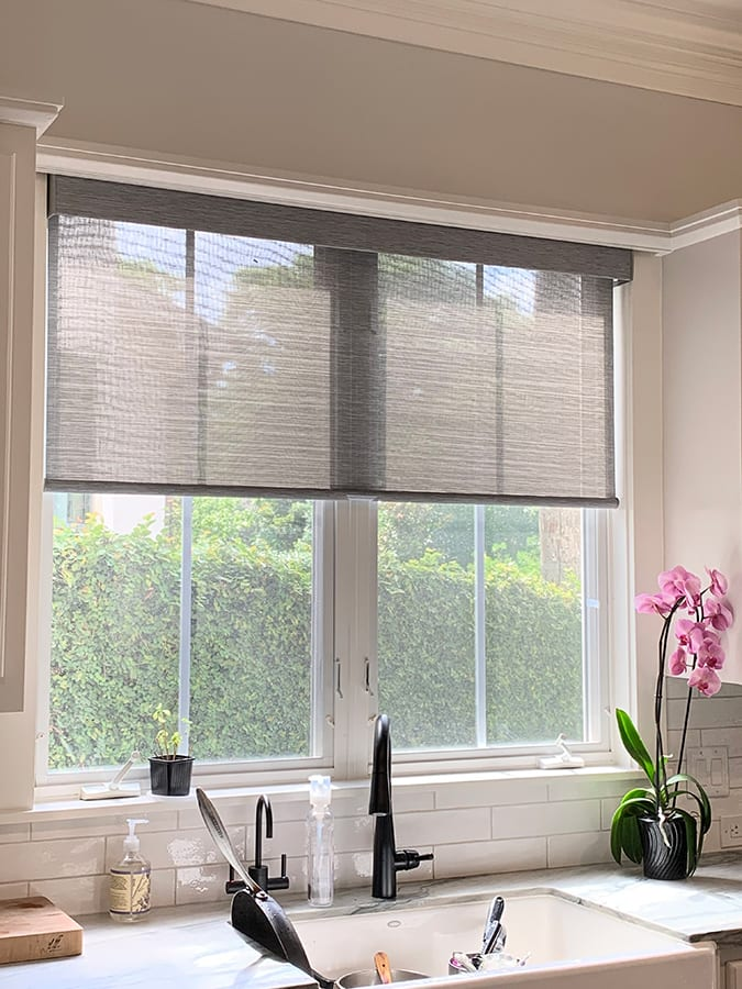 Hunter Douglas energy efficient woven wood shades Houston TX