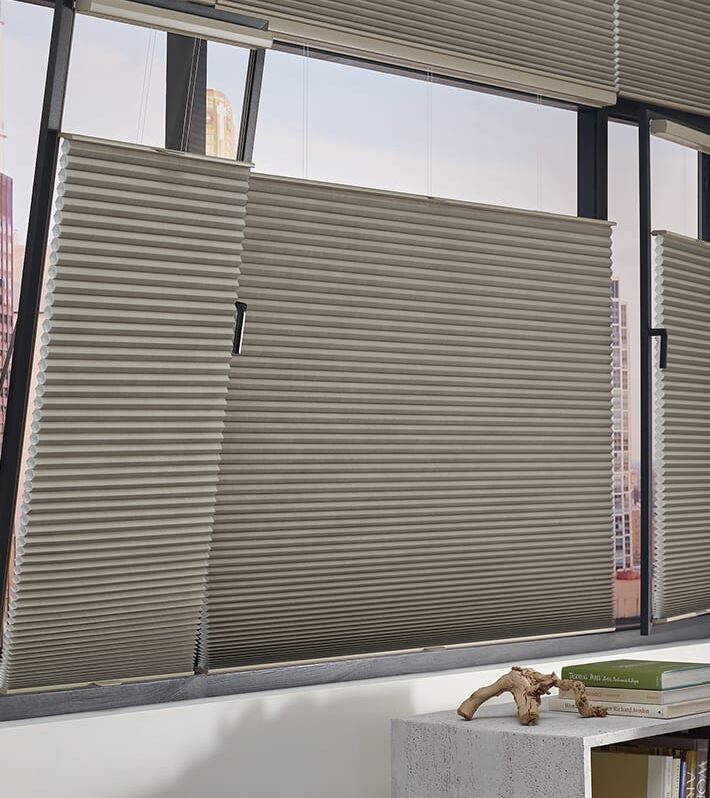tilt turn windows duette honeycomb shades