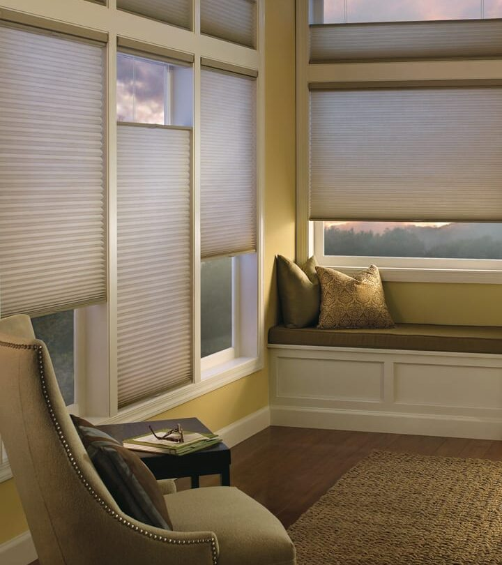 reading nook with top down bottom up shades