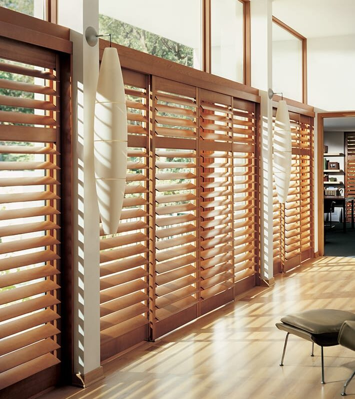 sliding glass doors with shutters
