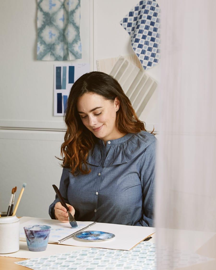 rebecca atwood textile designer for hunter douglas