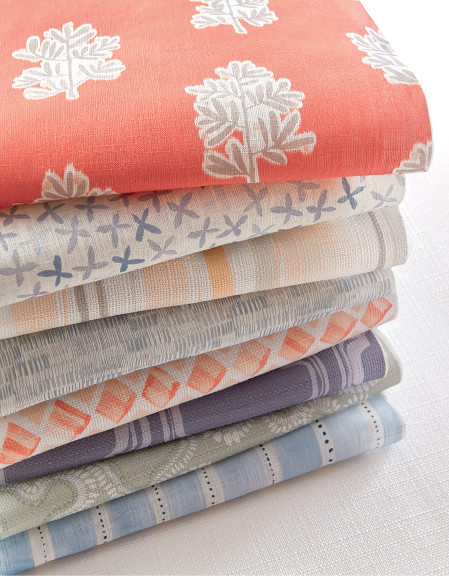 stacked fabrics from the Rebecca Atwood collection