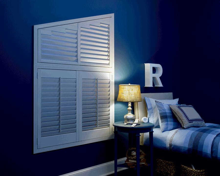 room darkening plantation shutters for child's bedroom child safe window treatments houston tx