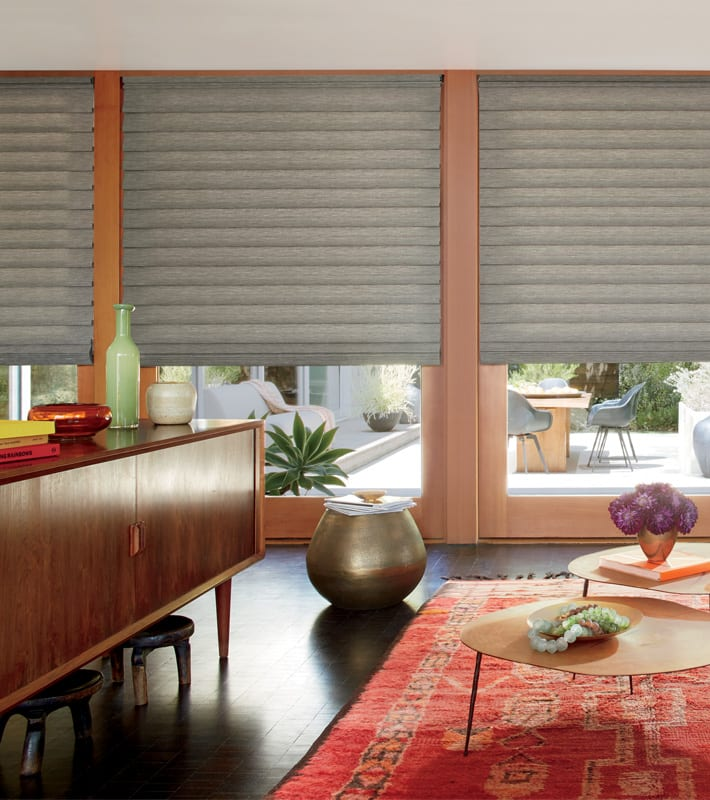 Hunter Douglas roman shade fabrics insulate your Houston TX home