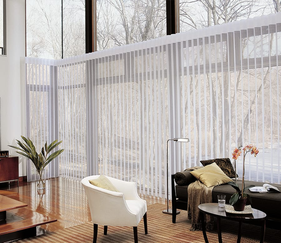 luminette sheers shades Hunter Douglas window treatments for sliding glass doors Houston TX