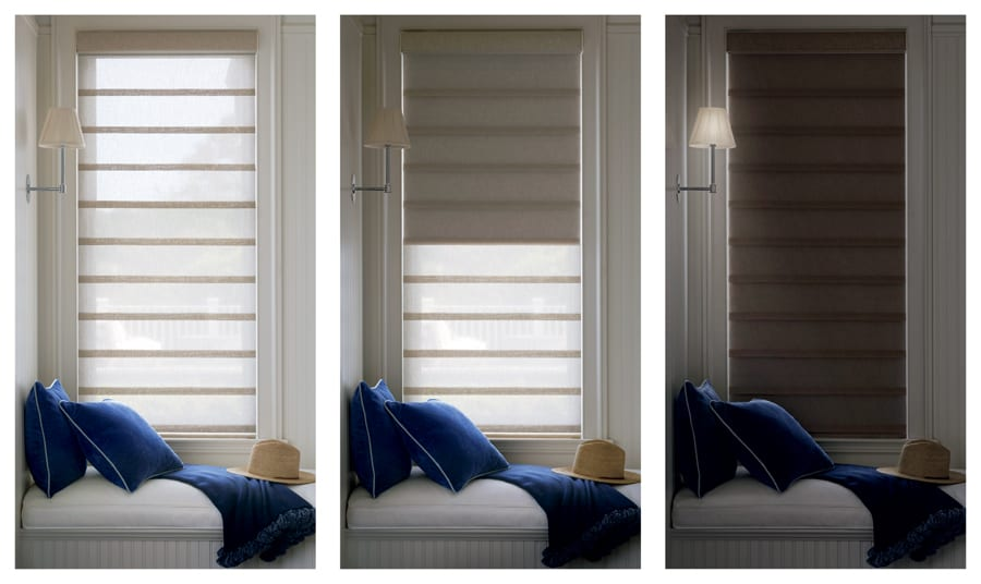 dual shades for a range of light control from light filtering to room darkening Houston TX