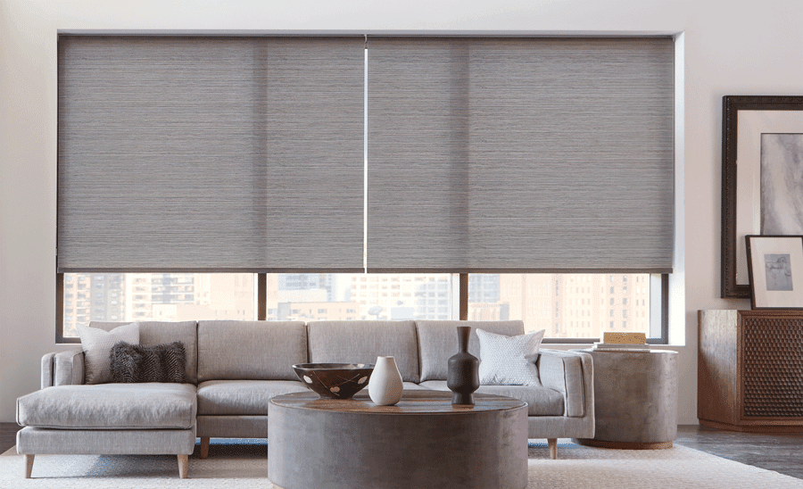 living room roller shades for light control and privacy Woodlands, TX