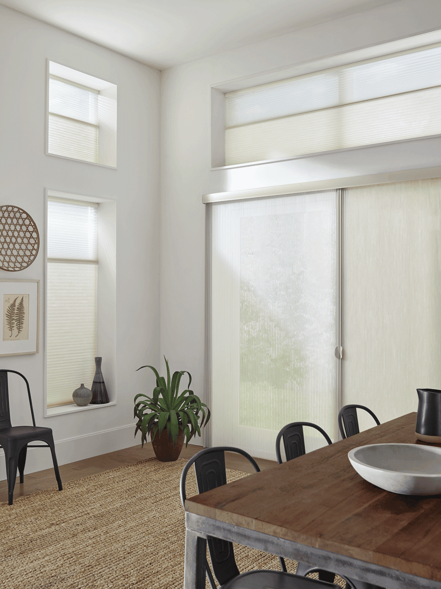 cellular shades for sliding glass doors and windows Houston