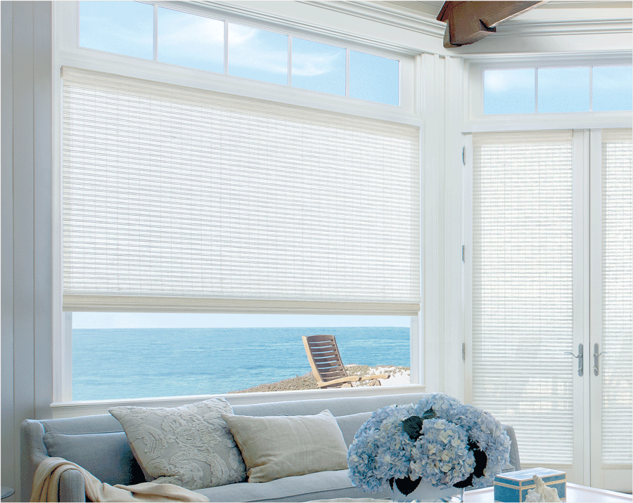 white woven wood shades as best window treatments for doors and matching windows Houston