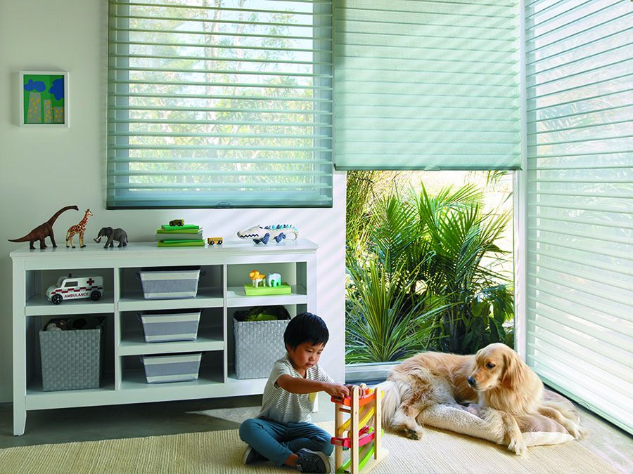 Kids and pets are kept safe in playrooms with cordless blings
