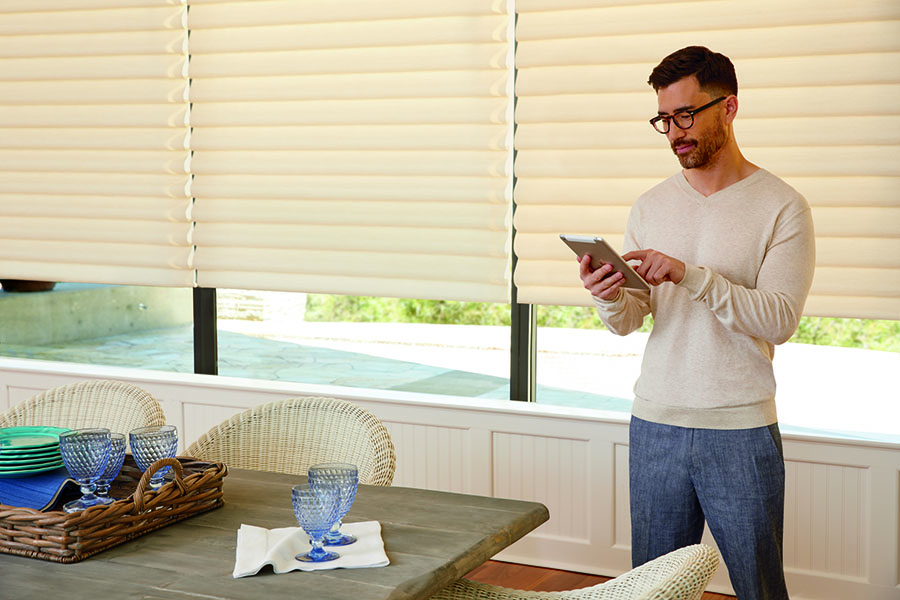 Remote-control blinds make it easy to add safety measures at home