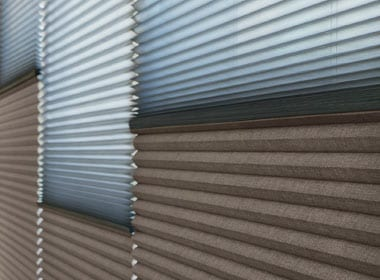 two on one cellular shades for a range of light and temperature control Houston TX