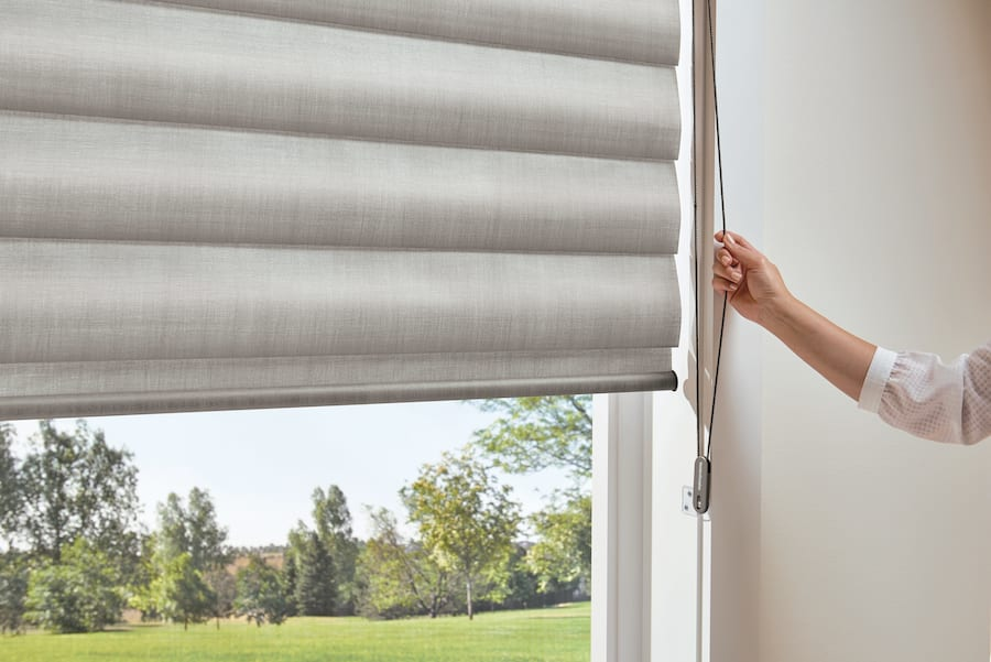 Continuous cord loop is a safe way to still have corded blinds with kids.