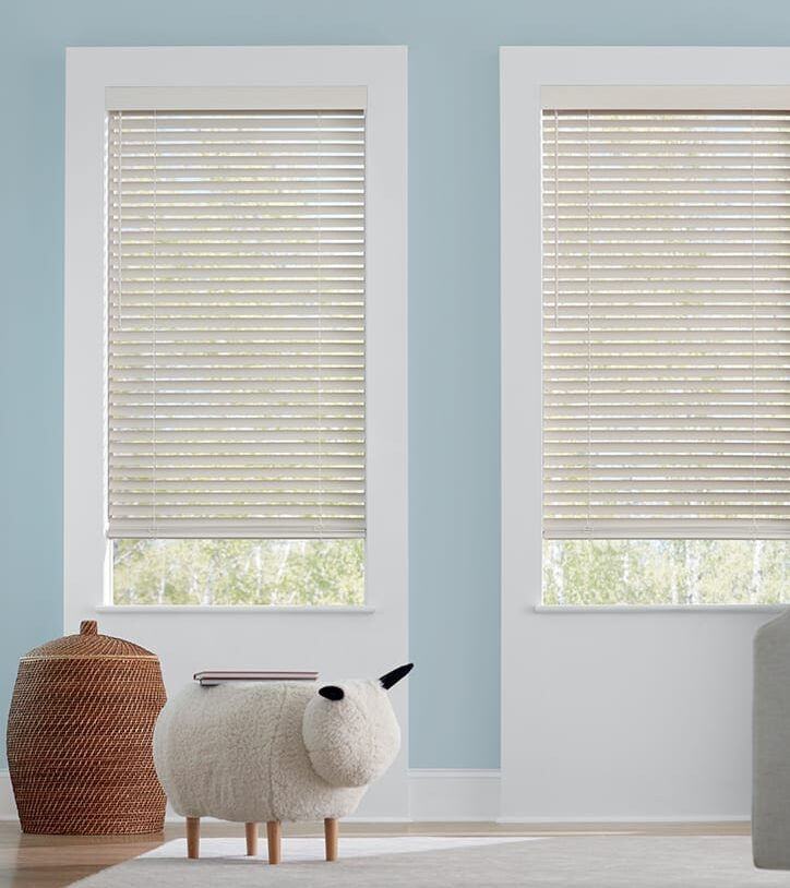 child's room with child safe blinds in Houston TX