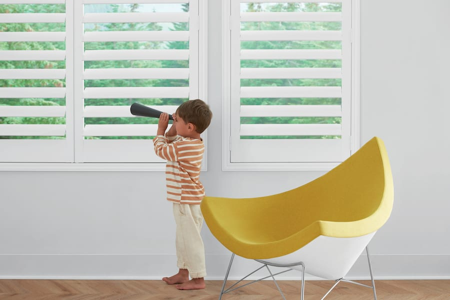 Shutters are one way of how to childproof your Houston, TX home.