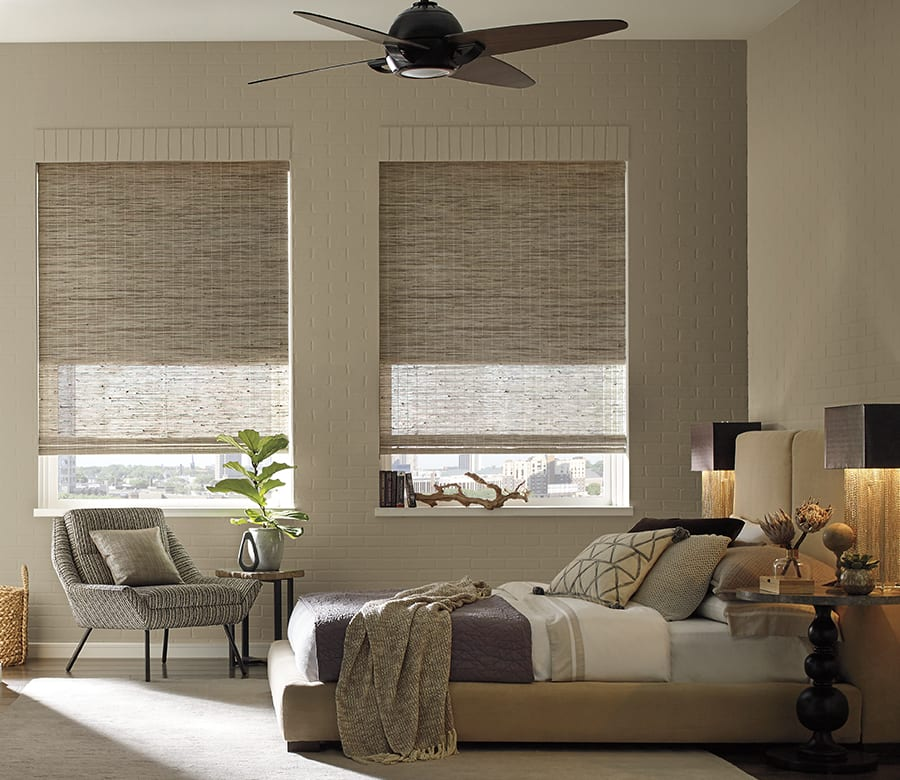 energy efficient woven wood shades in Houston TX