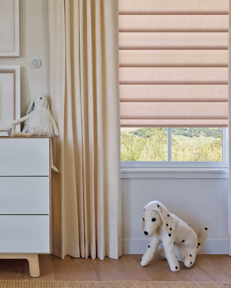 Motorized shades offer a safe window treatment option.