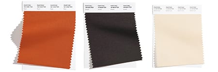 fabric swatches for rust colored dining room