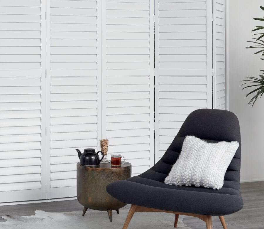 tall newstyle hyrid shutters in houston texas home