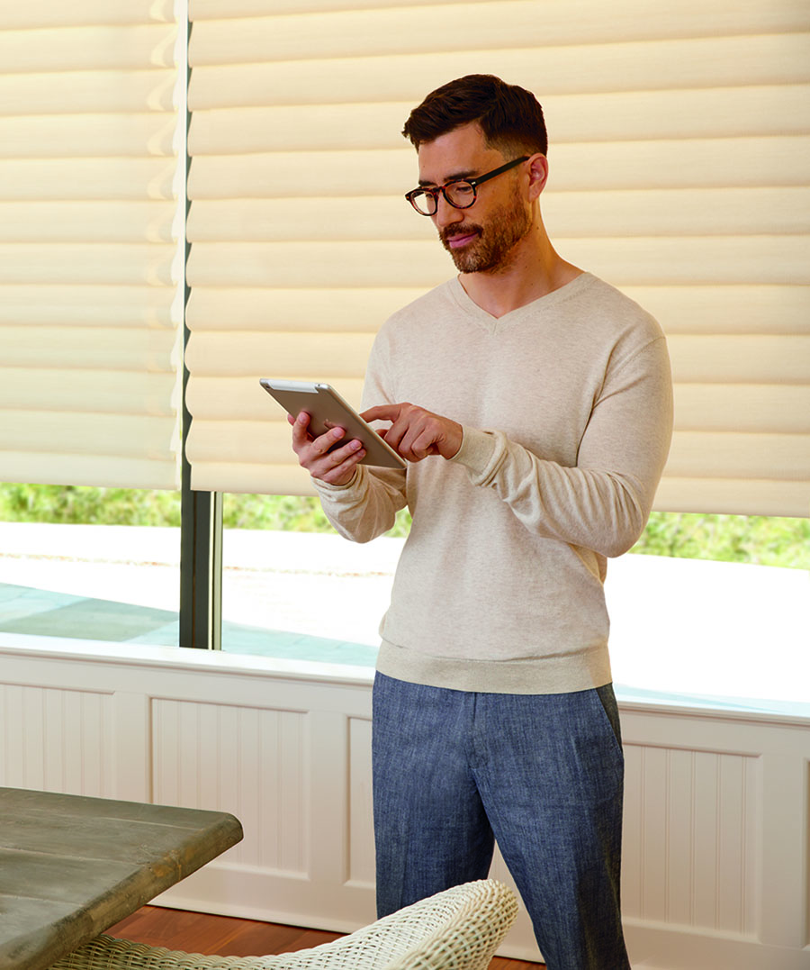 use smart home settings on your favorite device to adjust your motorized shades in houston TX