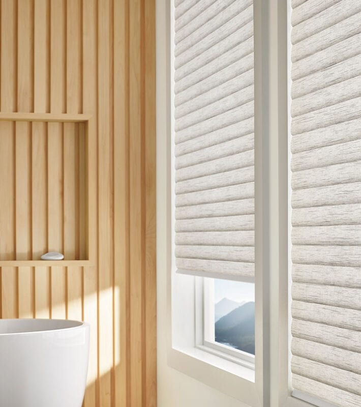cellular roller shades in houston bathroom