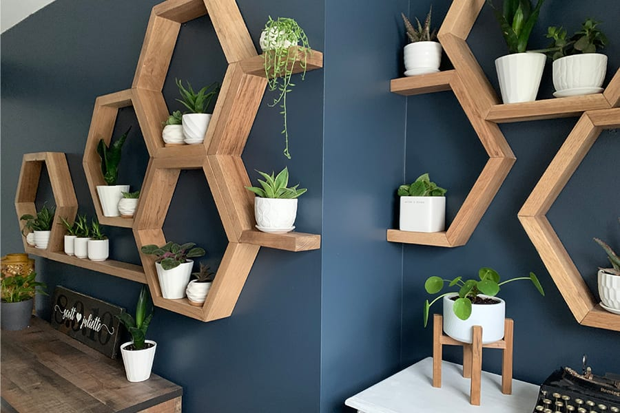 feature wall with design tip elements